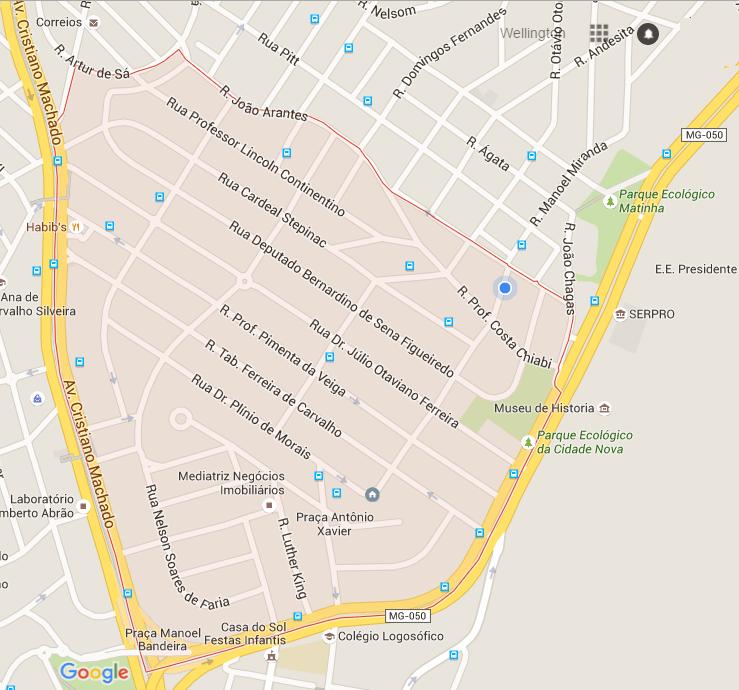 mapa cidade nova