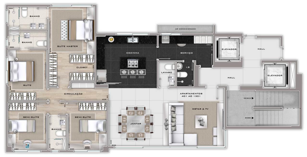 apartamento 4 quartos bairro são pedro